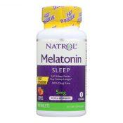 Natrol Melatonin Fast Dissolve Tablets Strawberry – 5 mg – 90 Tablets – 0611814