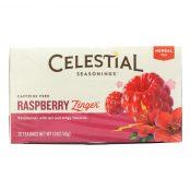 Celestial Seasonings Herbal Tea Caffeine Free Raspberry Zinger – 20 Tea Bags – Case of 6 – 0630947