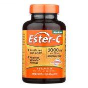 American Health – Ester-C with Citrus Bioflavonoids – 1000 mg – 90 Capsules – 0888412