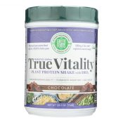 Green Foods True Vitality Plant Protein Shake with DHA Chocolate – 25.2 oz – 0928333