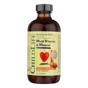 Childlife Multi Vitamin and Mineral Natural Orange Mango – 8 fl oz – 0408773