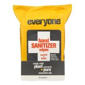 Everyone Hand Sanitizer Wipes – Natural – Coconut and Lemon – 30 Count – 1721273