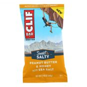 Clif Bar – Sweet and Salty Energy Bar – Peanut Butter and Honey with Sea Salt – Case of 12 – 2.4 oz. – 2293512
