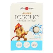 Ginger People Ginger Rescue – Strong – 24 Chewable Tablets – Case of 10 – 1751627