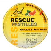 Bach Flower Remedies Rescue Remedy Pastilles Orange Elderflower – 1.7 oz – Case of 12 – 0689398
