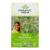 Organic India Tulsi Tea – Organic – Moringa – 18 Tea Bags – 1 Case – 1543156