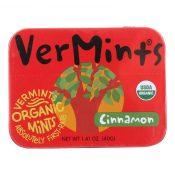 VerMints Breath Mints – All Natural – CinnaMint – 1.41 oz – Case of 6 – 0839613