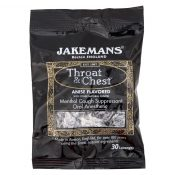 Jakemans Throat and Chest Lozenges – Licorice Menthol – Case of 12 – 30 Pack – 0964353