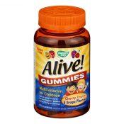 Nature's Way – Alive! Gummies Multi-Vitamin for Children – Cherry Grape and Orange – 90 Gummies – 1131275