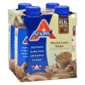 Atkins Advantage RTD Shake Mocha Latte – 11 fl oz Each / Pack of 4 – 0457929