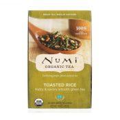 Numi Tea Toasted Rice Green Tea – Organic – Case of 6 – 18 Bags – 0882332