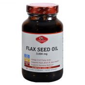 Olympian Labs Flax Seed Oil – Certified Organic – High Lignan – 3000 mg – 90 Softgels – 0382655
