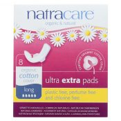 Natracare  Ultra Extra Pads w/wings – Long – 8 Count – 1600089