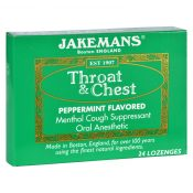 Jakemans Lozenge – Throat and Chest – Peppermint – 24 Count – 1 Case – 1609155