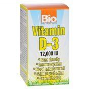 Bio Nutrition – Vitamin D-3 – 12000 IU – 50 Vegetarian Capsules – 1126424