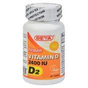 Deva Vegan Vitamins – Vitamin D – 2400 IU – 90 Tablets – 0151472
