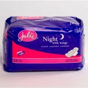 Maxi Pads with Wings Overnight 10 Count Case Pack 36 – 359576