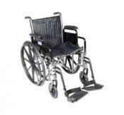 Wheelchair Econ Rem Desk Arms W/ELR  Dual Axle 18 – 10965P