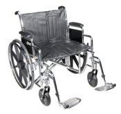 Wheelchair Std Dual-Axle 24  w/Rem Full Arms & S/A Footrest – 20959N