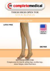Firm Surg Weight Stkngs Medium 20-30mmHg Thigh w/GarterTop CT – BJ385BGM