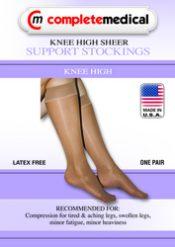 Ladies' Sheer Firm Support  XL 20-30mmHg  Knee Highs  Beige – BJ391BGXL