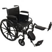 K2 Wheelchair 18 x16   Removbl Desk Arms  Elevating Legrests – WC21816DE