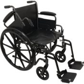 K2 Wheelchair 18 x16   Removbl Desk Arms Swing Away Footrests – WC21816DS