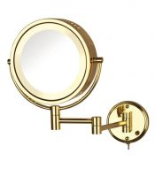 Halo Lighted Wall Mirror Bright Brass – JER-HL75G